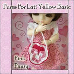 Pink Pansy Purse